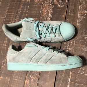 Men's Blue Adidas Superstar